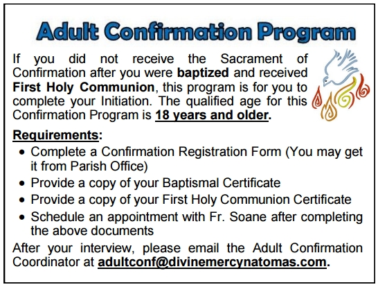 201602 Adult Confirmation