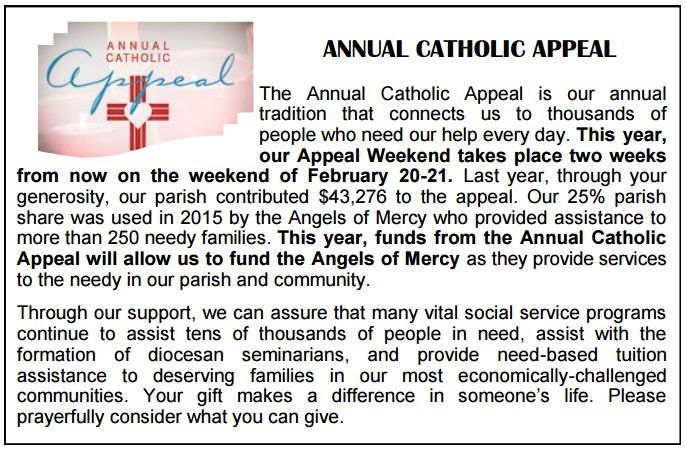 201602 Catholic Appeal