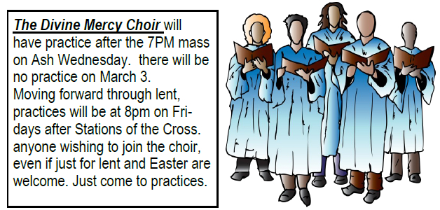 2017 Choir Lent