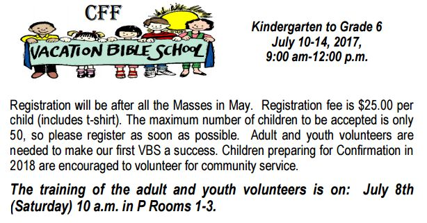 170521Vacation Bible School
